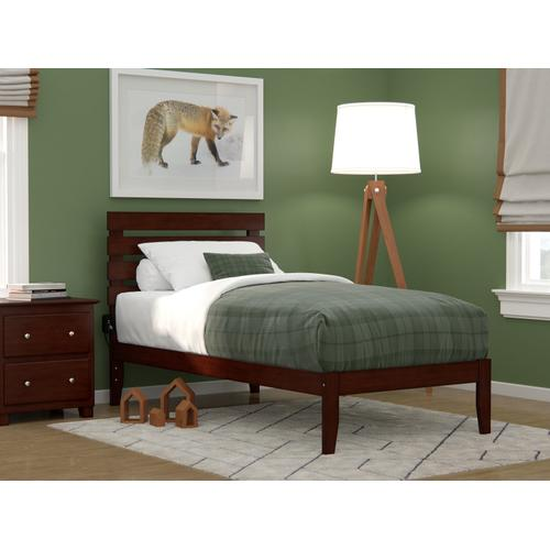 Atlantic Furniture - Oxford Twin Bed with USB Turbo Charger in Walnut