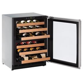 """24"""" Dual-zone Wine Refrigerator With Stainless Frame Finish and Left-hand Hinge Door Swing (115 V/60 Hz Volts /60 Hz Hz)"""