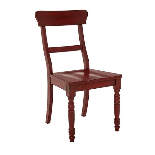Dining Chair- 2/CTN- Antique Red - Antique White Finish