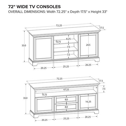 Howard Miller Custom TV Console TS72H