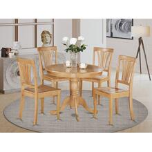 5 Pc Kitchen Table-round Kitchen Table plus 4 Chairs for Dining room
