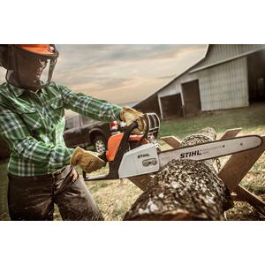 Gallery - A lightweight chainsaw designed for woodcutting tasks around the home.