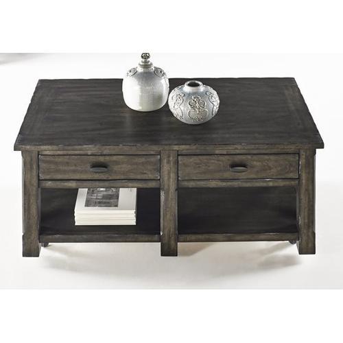 Rectangular Cocktail Table - Dark Birch Smoke Finish