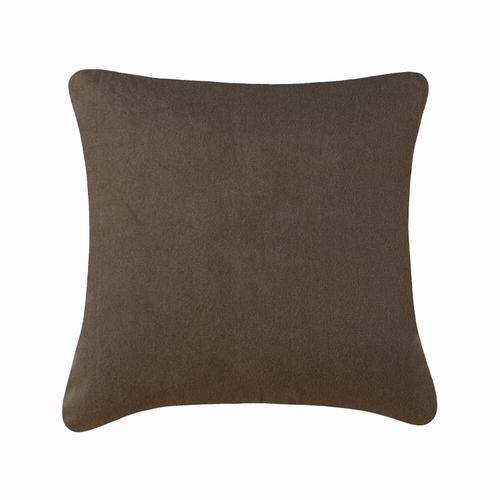 Velvet Textured Cushion - Brown