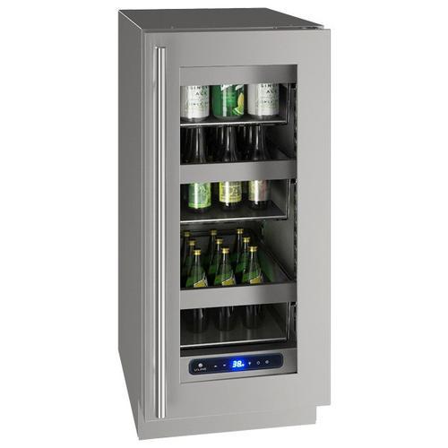 "U-Line - Hre515 15"" Refrigerator With Stainless Frame Finish (115 V/60 Hz Volts /60 Hz Hz)"