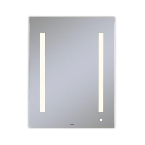 """Aio 23-1/8"""" X 29-7/8"""" X 1-1/2"""" Lighted Mirror With Lum Lighting At 2700 Kelvin Temperature (warm Light), Dimmable, Usb Charging Ports and Om Audio"""