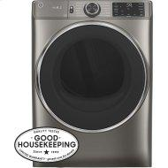 GE(R) 7.8 cu. ft. Capacity Smart Front Load Electric Dryer with Steam and Sanitize Cycle