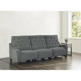 CHELSEA - WILLOW GREY Power Triple Reclining Sofa (811LP, 810P, 811RP)