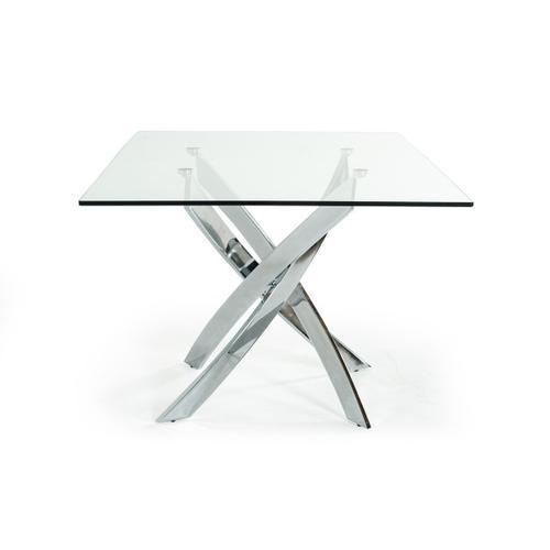 VIG Furniture - Modrest Pyrite Modern Rectangular Glass Dining Table