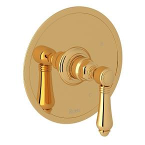 Italian Brass Italian Bath Pressure Balance Trim Without Diverter with Metal Lever