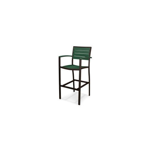 Polywood Furnishings - Eurou2122 Bar Arm Chair in Textured Bronze / Green