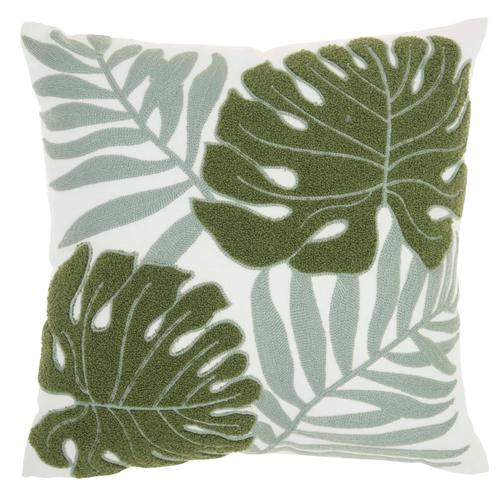 "Life Styles L0157 Green 18"" X 18"" Throw Pillow"