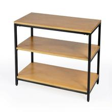 See Details - The clean, natural wood finish of this 3- shelf etag re bookcase give this piece a modern-industrial look that comes together seamlessly. Utilize this piece a number of different ways, whether it's to store books and office supplies, or display your decorative accents. The black iron frame and base give this piece both stability and durability while the Mango Wood with Gamelina Veneers is finished in a gorgeous natural brown that fits in many aesthetics. Just wipe clean with a dry cloth. Some assembly needed.