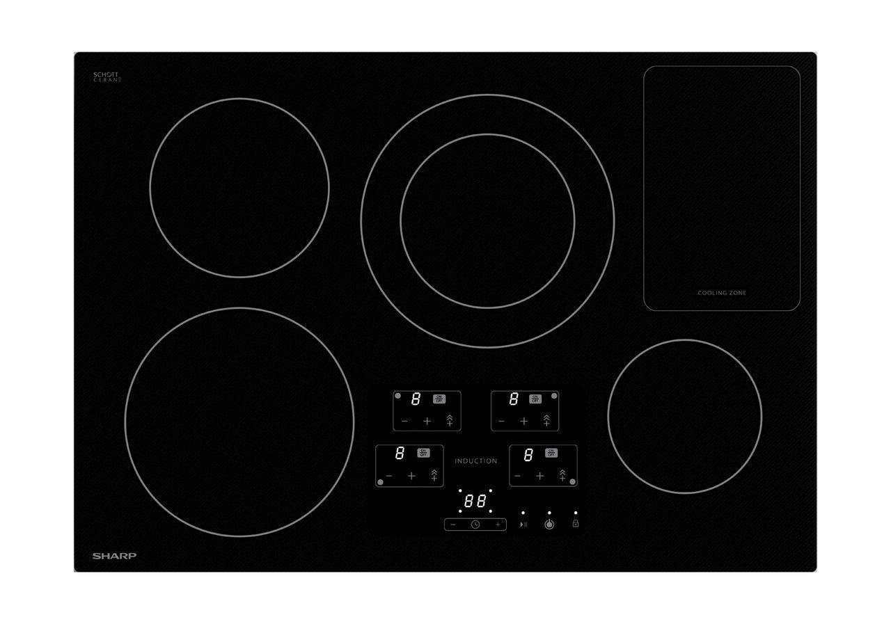 Sharp30 In. Width Cooktop, European Black Mirror Finish Made With Premium Schott® Glass