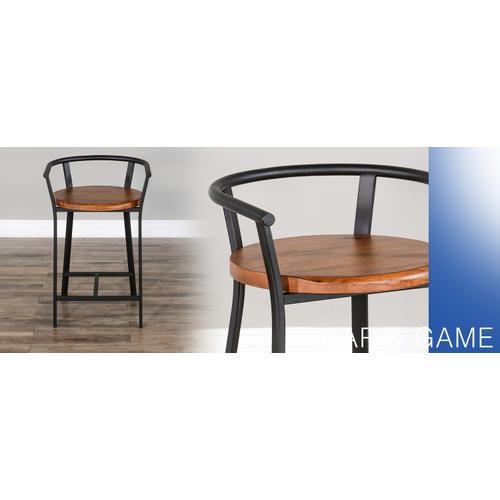 "24""H Barstool, Wood Seat"