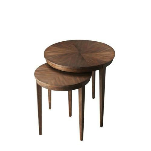 Butler Specialty Company - These tables feature elegant four-way-match veneer tops and slim tapered legs. Crafted from acacia wood solids and acacia veneers in the Cocoa finish, they are as versatile and functional as they are beautiful.