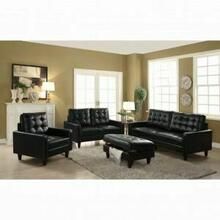 ACME Nate Chair - 50267 - Black Leather-Gel