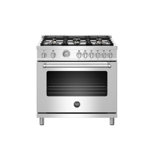 Gallery - 36 inch All Gas Range, 6 Brass Burners Stainless Steel