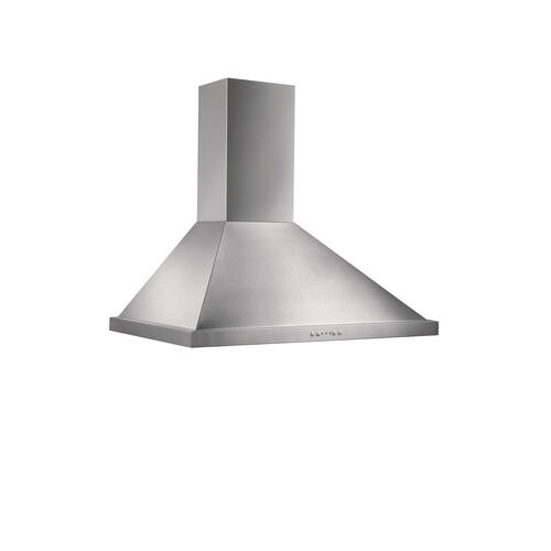 Broan® 36-Inch Convertible Canopy Wall-Mount Range Hood w/ Heat Sentry®, 500 CFM, Stainless Steel