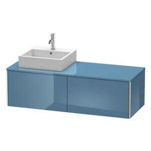 Vanity Unit For Console Wall-mounted, Stone Blue High Gloss (lacquer)
