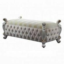 ACME Picardy Bench - 27886 - Fabric & Antique Pearl