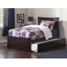 Metro Twin Bed with Matching Foot Board with Urban Trundle Bed in Espresso