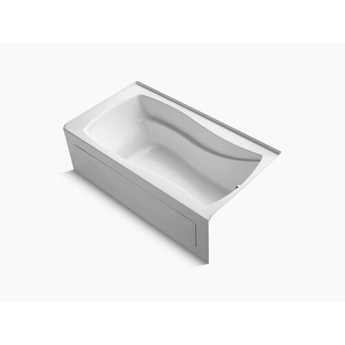 "White 66"" X 36"" Alcove Bath With Bask Heated Surface, Integral Apron, and Right-hand Drain"