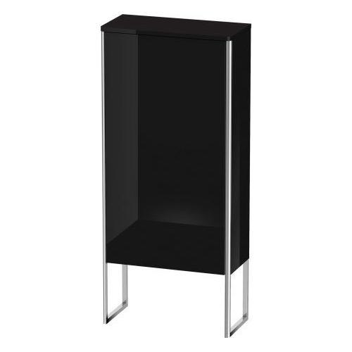 Duravit - Semi-tall Cabinet Floorstanding, Black High Gloss (lacquer)