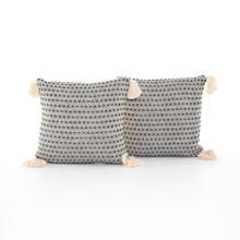 "Briella Pillow, Set of 2-20""-grey/white"