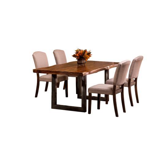 Emerson 5-piece Rectangle Dining Set - Natural Sheesham