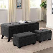 See Details - Clio Storage Bench W/ Ottoman
