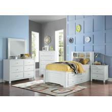 ACME Mallowsea Twin Bed w/Storage Rail - 30420T - White