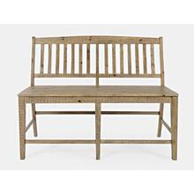 Carlyle Crossing Slatback Counter Bench