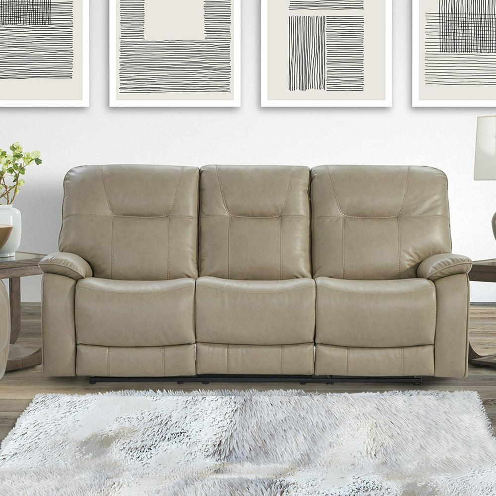 See Details - AXEL - PARCHMENT Power Sofa