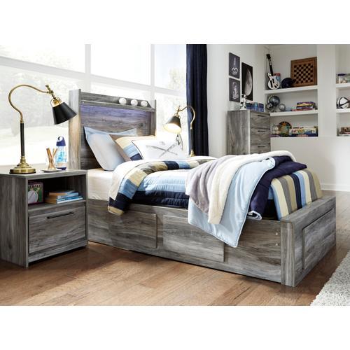 Baystorm - Gray 5 Piece Bed (Twin)