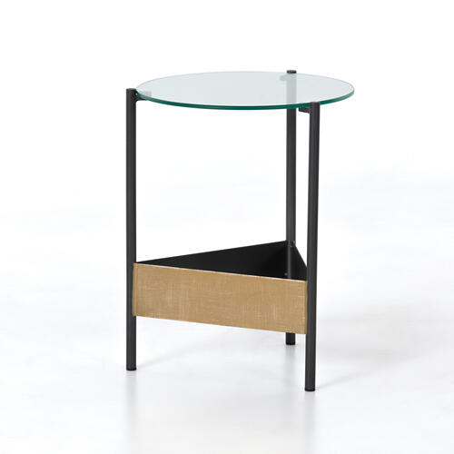 Benicio End Table-gold Brush