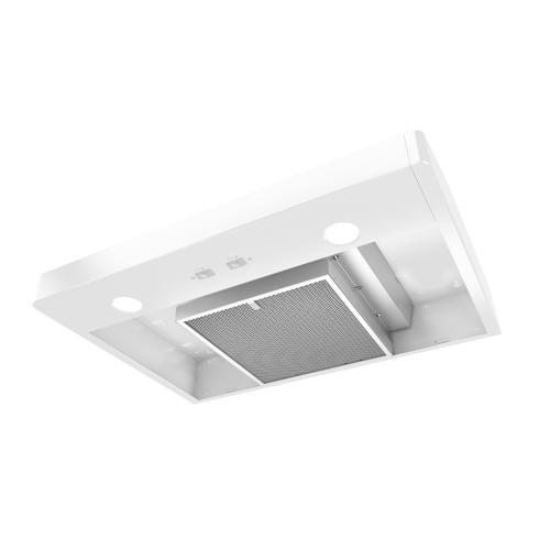 Broan - Broan® Elite 30-Inch Convertible Under-Cabinet Range Hood, White