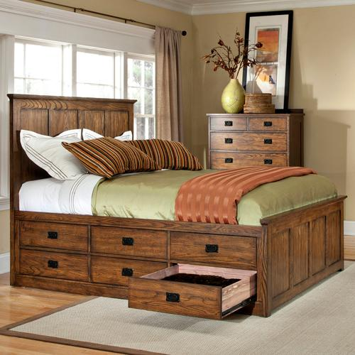 Oak Park Captains Bed  Mission