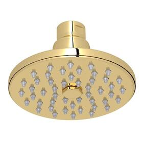 "Unlacquered Brass 4"" Rodello Circular Rain Showerhead"