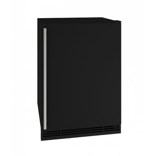 "U-Line - 24"" Refrigerator/ice Maker With Black Solid Finish (115 V/60 Hz Volts /60 Hz Hz)"