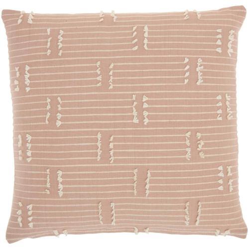 """Kathy Ireland® Home Pillow Ss300 Blush 18"""" X 18"""" Throw Pillow"""