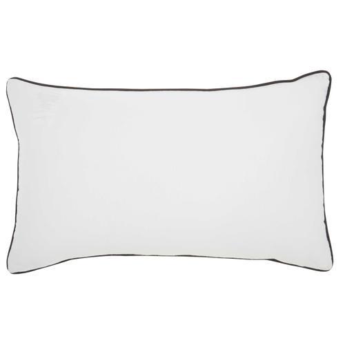 "Trendy, Hip, New-age Qy280 White 12"" X 20"" Throw Pillow"