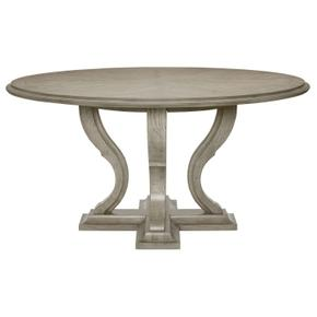 Marquesa Round Dining Table in Gray Cashmere (359)