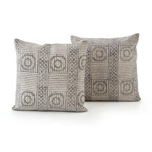 Faded Block Print Pillow, Set of 2-20x24