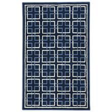Square Trellis Navy Hand Tufted Rugs