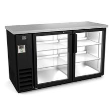 "See Details - Refrigeration Equipment Bar Equipment 2-glass door Refrigerator, 15.8 cu.ft, 60"" (R290)"