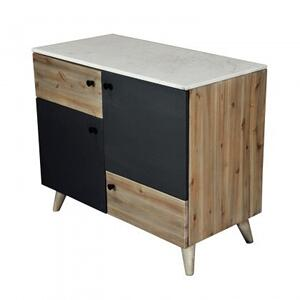 Echo Credenza Small/White Marble+Wood+Iron Sheet/36*18*30