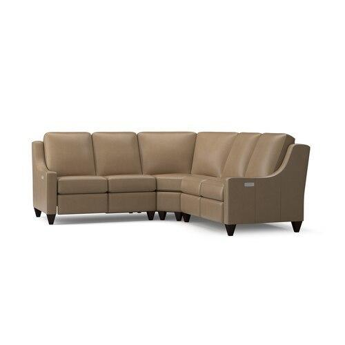 Motion Reclining Leather L Sectional