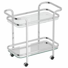 See Details - Zedd 2-Tier Bar Cart in Chrome