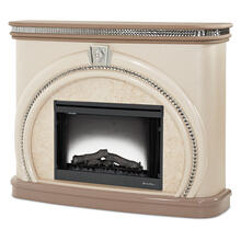 See Details - Upholstered Fireplace
